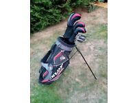 Full Set of Dunlop Tour Graphite Shaft Golf Clubs and Stand Carry Bag