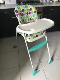 Joie highchair. 1 hand fold.