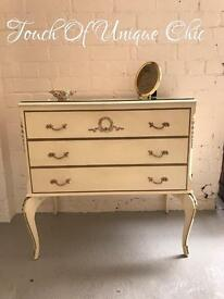 French louis style chest of drawers