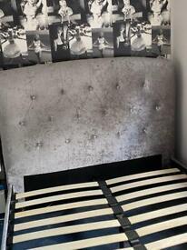 Birlea 4'6 double bed - crushed velvet