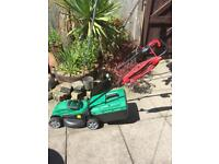 Bosch electric rotary lawnmower metal blade good condition