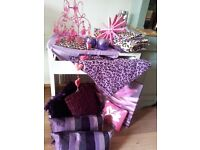 Gorgeous Pink/purple Girls bedroom bedding and accessories