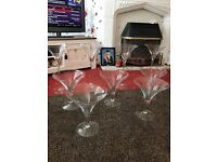 9 martini vase glasses £150 ono