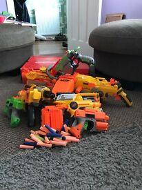 Seven nerf guns