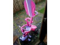 Girls trike with parent handle