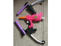 Nerf Rebelle bow and arrows
