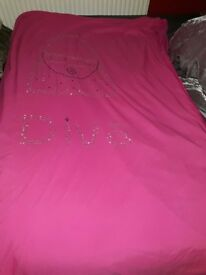 Pink diva single bed covers (no pillowcase)