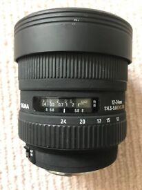 Sigma 12-24mm f4.5-5.6 (Canon EF mount) ULTRA WIDE full frame lens