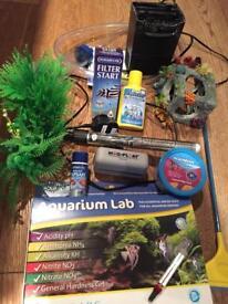 Aquarium 65 litre fish tank and starter kit (no fish)