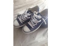 Blue Converse Trainers