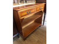 Console /Bookcase with 2 drawers - Great for narrow hallway . Size W 78cm D 29cm H 72cm