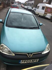Vauxhall Corsa 2003 Model in great condition
