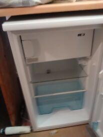 Fridge, small under counter refridgerator in good condition. Make LEC, model R5010W/B, energy A+