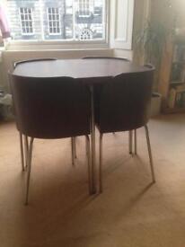 Ikea Space Saving Table & 4 Chairs