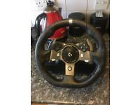 Logitech G920 wheel and paddles and playseat