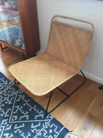 Low rattan chair