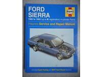 HAYNES FORD SIERRA 1982-93 SERVICE AND REPAIR MANUAL.