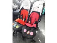 Mickey&Minnie twin pram