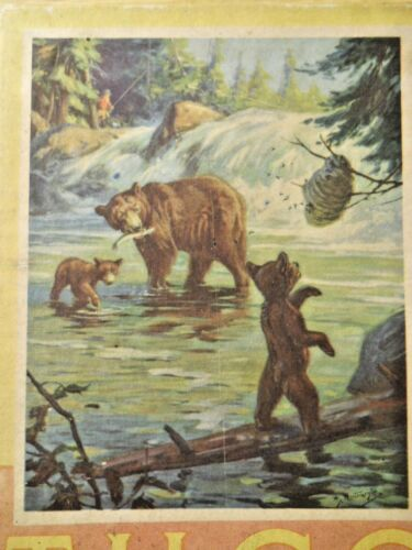 1948/57 TUCO Picture Puzzle TIME TO RETREAT Stock #2508 200+ Pieces Bear Family