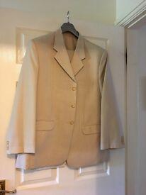 Gents handmade cream linen suit