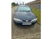 VAUXHALL VECTRA SRI 130, 02 REG MOT'D MARCH 2017