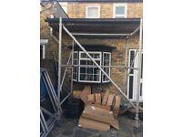Heavy duty scaffolding old school