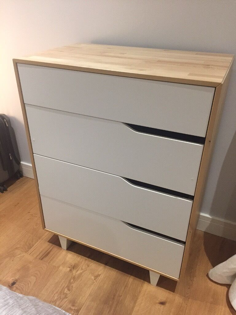 ikea mandal discontinued white natural 4 drawer dresser in westminster london gumtree. Black Bedroom Furniture Sets. Home Design Ideas