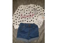 Brand new baby girls outfit