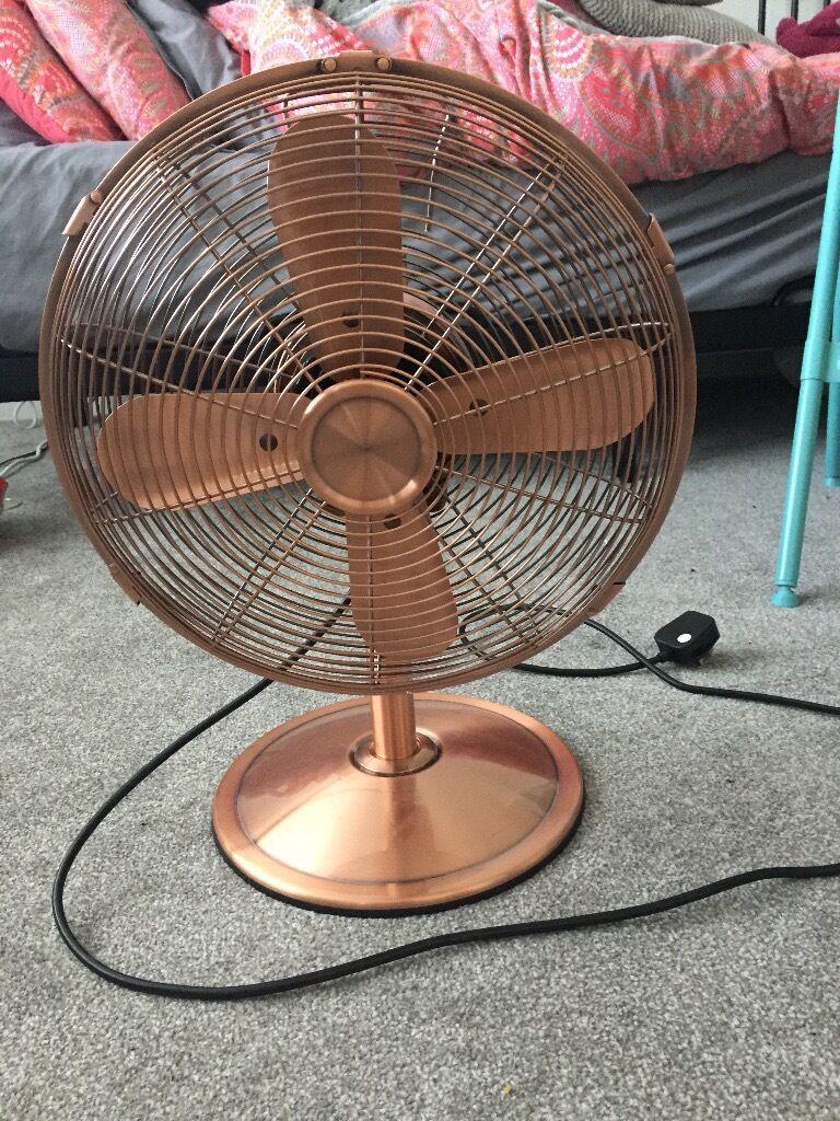Gumtree Desk Fan : Rose gold fan in horley surrey gumtree