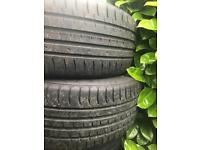 Two accela budget 225x45x18 Tyres