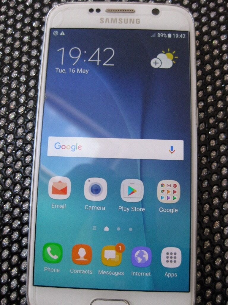 Samsung Galaxy S6 SM G920F32GBWhite Pearl (Unlocked) Smartphonein Saltcoats, North AyrshireGumtree - SAMSUNG GALAXY S6 (UNLOCKED) 32GB, with case and screen protector. I am selling my Samsung Galaxy S6 phone which is unlocked and has a case and a screen protector. This is the white pearl 32GB unlocked version and has been set back to the factory...