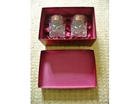 2 Doulton International Finest Cut Crystal Hellene Whiskey / Whisky / Rummer Glasses Glass Tumblers