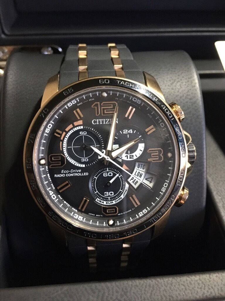 8899e8943 CITIZEN MEN'S CHRONO-TIME A-T LIMITED EDITION ALARM CHRONOGRAPH ECO-DRIVE  WATCH