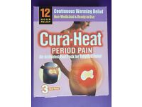 Cura-Heat Period Pain Pads - 3 Heat Packs + 2 EXTRA FREE