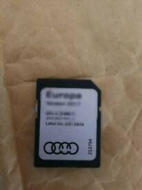 Genuine Audi 2017 Sat Nav Maps Europa Europe SD Card