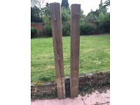 A pair of gate posts for sale