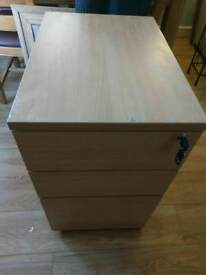 Wooden Small 3 Drawer Filing Cabinet