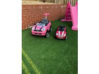 Kids ride along mini coopers