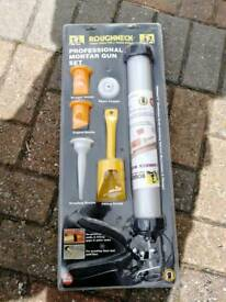 Roughneck Professional Mortar Gun Set - New - Unopened