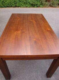 Dining room table, rectangular, dark wood, from John Lewis, seats 6 - 150x90cms