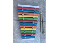 Wooden xylophone child toy instrument