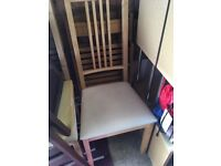 2 x dining/kitchen chairs