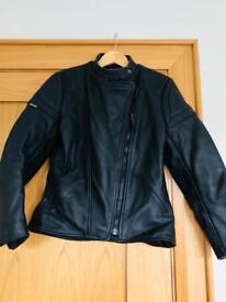 Wolf ladies leather motorcycle jacket