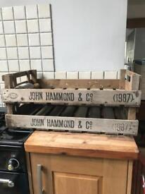 Pair of Vintage Style Crates