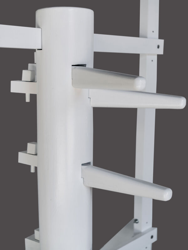 Kampfsport Wing Chun Wooden Dummy With Frame And Legs White Color Kung-Fu