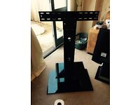 Black glass TV stand for up to 50 inch tv