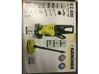 Karcher pressure washer in hardly used condition. Boxed with accessories