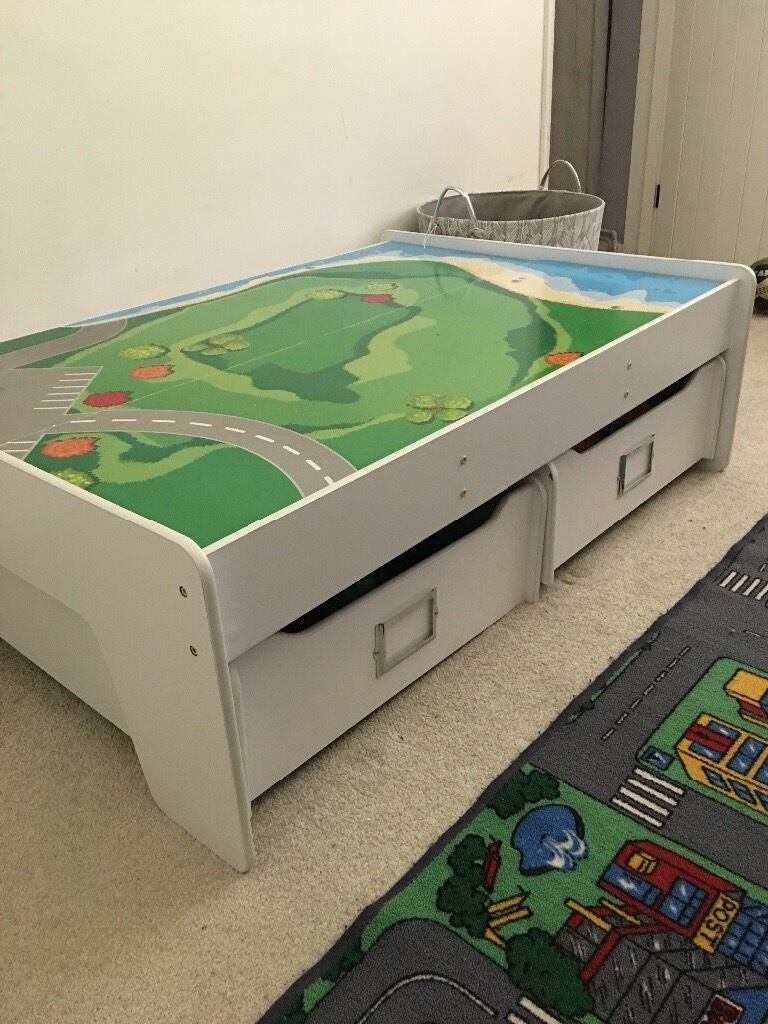 TRAIN TABLE, GOOD CONDITIONin Pulborough, West SussexGumtree - Train table, good condition, can send measurements if you need them, one wheel missing off drawer, but works perfectly fine without it, or you can replace it!