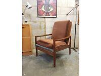 Mid Century Vintage Teak Armchair