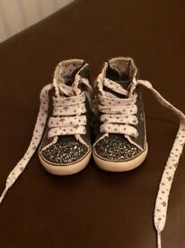 Next Toddler Girl size 3 hi-top trainers